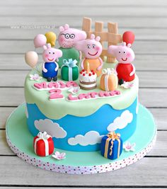 Peppa Pig Cake - Cake by Natalia Kudela Bolo Da Peppa Pig, Peppa Pig Birthday Cake, Birthday Party Snacks, Pig Party, 4th Birthday, Pavlova, Cake Decorating Piping, Cake Craft, Cakes For Boys