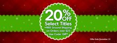 Check out all of our 2013 titles, now 20% off with purchases over $25!   http://gryphonhouse.com/store/trans/productListingRpt.asp?CatID=57 #discount