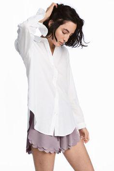 Шорты с фестонами - Серо-лиловый - Женщины   H&M RU 1