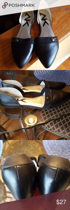 Ann Klein sports great for the office... Black leather new flats onmyway D' Orsay Ann klein Shoes Flats & Loafers