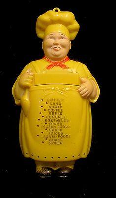 1950s Noma Happy Chef Kitchen Memo Yellow.