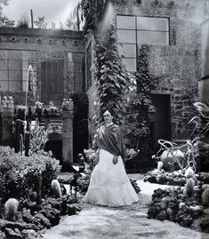 Frida Kahlo, in her garden at Casa Azul 1951.