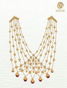Azva contemporary bridal gold necklace #Goldjewellery #luxury #style