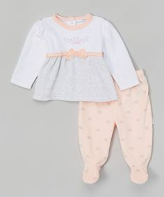 Love this Pink Princess Velour Top & Footie Pants by Vitamins Baby on #zulily! #zulilyfinds