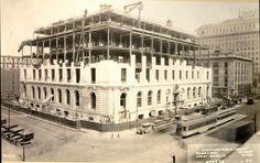 Cleveland Main Library construction photograph, April 3, 1924:
