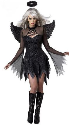 Fallen Angel Lace Halloween Mini Dress Costume For Women | Women's Dresses & Accessories For Less