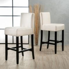 Lopez Fabric Barstool (Set of 2) by Christopher Knight Home