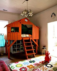 Tree House Bed. I need my dad to build this for Parker when he's older. Would go perfect with all the trees in his room!