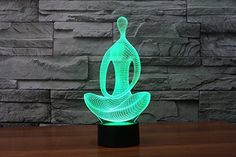 3D Led Optical Illusion 7 Colors Change Night Light Touch Button Creative Design Decorative Lighting Effect Lamp Meditation *** Details can be found by clicking on the image. (Note:Amazon affiliate link)