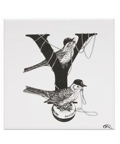 White Letter Y Yankee Yellowtail YoYo Tile, Rory Dobner. Shop more tiles from the Rory Dobner collection online at Liberty.co.uk.