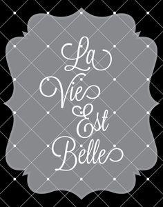 La Vie Est Belle  Click to see entire website...enter promo code 50off for 50% off entire store!
