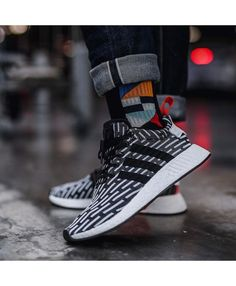 a6c4268d1 Adidas NMD R2 Primeknit Black White Trainers Adidas Nmd Mens Shoes