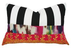 Betsy 14x20 Cotton Pillow, Multi