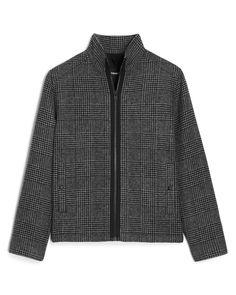 Plaid Wool-Blend Jacket
