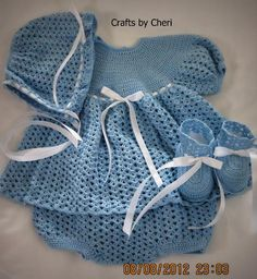 Baby dress, diaper cover, crochet