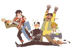 Binge-watched Voltron at work. Look at this dumb squad. squad meme from here