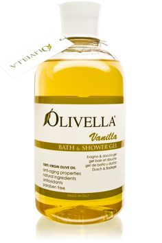 "Olivella Bath & Shower Gel – ""Vanilla"" – 16.9 fl. oz. (500 ml) – Pack of 6"