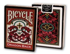"""Bicycle Vintage """"Dragon Back"""" Deck with Gaff Card Red Bicycle Cards, Bicycle Playing Cards, Celtic Dragon, Red Dragon, Gin Rummy, Deck Colors, Back Deck, Card Companies, Practical Magic"""