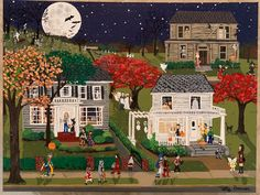 Macabre Art, Mansions, Halloween, House Styles, Home Decor, Decoration Home, Room Decor, Fancy Houses, Halloween Labels