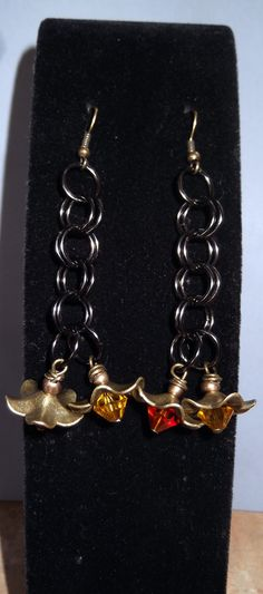 Unique Brass Flower and Chain Maille by WolfMountainJewelry, $15.00