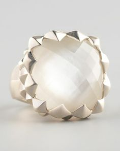 Superstud Mother-of-Pearl Ring by Stephen Webster at Bergdorf Goodman.