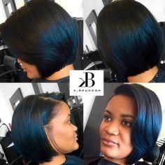 #chic #sharp #cut #bob #naturalhair #healthyhair #hairstylist @thefirmatl #atl…