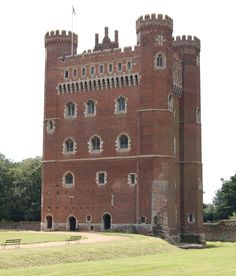 Tattershall Castle, Lincolnshire, England. Built between 1434 - 46 by Ralph Cromwell, Lord Treasurer to Henry VI.