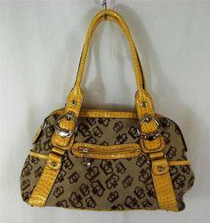 Kathy Van Zeeland Shoulder Bag Purse Brown Multi-Color Handbag Womens Large L #KathyVanZeeland #ShoulderBag