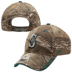 c403f52768f Mens Seattle Mariners  47 Brand Realtree Camo Frost Adjustable Hat