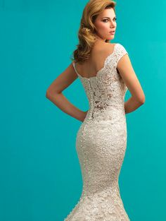 Buttons Low-Back Wedding Gown