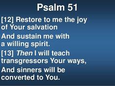 11. Psalm 51 [12] Restore ...