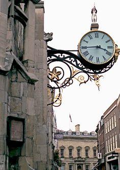 Clock York England. Scanned from a 35mm negative by Sir Garlichad, via Flickr