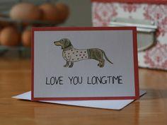 Dachshund Valentine/Anniversary Card