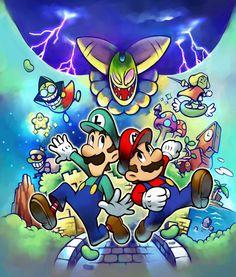 Box Art Illustration | Mario & Luigi: Superstar Saga