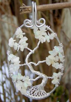 Fragile Ethiopian Opal Tree of Life Wire by RachaelsWireGarden, $40.00