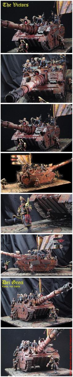 Commissar, Diorama, Imperial Guard, Super-heavy, Tank