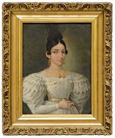 Anónimo mexicano, Retrato de dama no identificada, óleo sobre  lámina de cobre, 25 x 19 cm., ca. 1825-39, colección particular, fotografía propiedad de Galerías Louis C. Morton, catalogación: Juan Carlos Cancino.