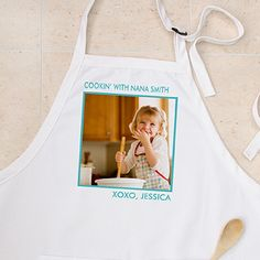 """Personalized Photo Aprons & Potholders - 12384 $22.95 (gift - """"Christmas with the ....."""""""