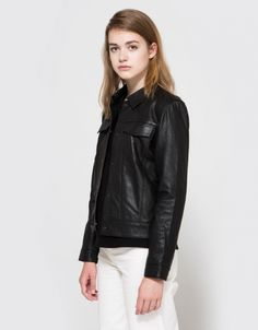 Cam Leather Jacket in Black