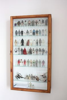 https://flic.kr/p/asuFLx | Star Wars figure display case | Displaying all my first edition Star Wars figures in a vintage display case.