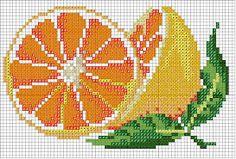 Resultado de imagem para ponto cruz cozinha frutas