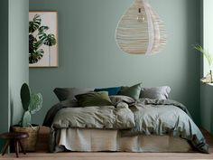 Design ideas for a sage green bedroom - Joli Place Sage Green Bedroom, Green Rooms, Burgundy Bedroom, Bedroom Colors, Bedroom Decor, Bedroom Wall, Master Bedroom, Wall Decor, Wall Art
