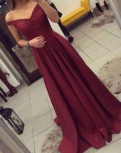 Burgundy off shoulder long prom dress, burgundy evening dress