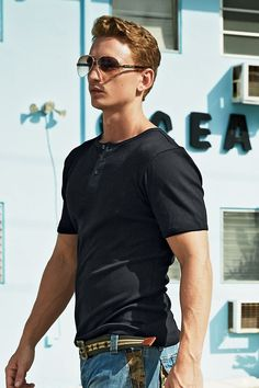 Mens Henley Short Sleeve Shirts