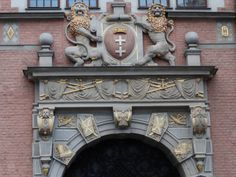 entrance with class, Gdańsk, Poland