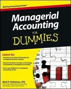 Managerial accounting tenth canadian edition free ebook online managerial accounting for dummies fandeluxe Gallery