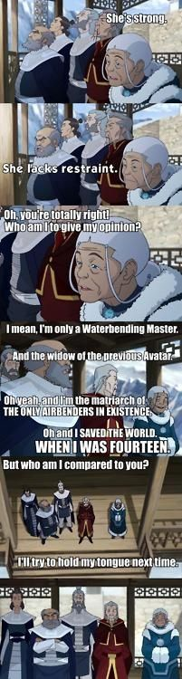 Katara is an awesome old ladeh!