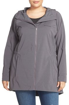 Columbia 'Sweet As™' Long Hooded Soft Shell Jacket (Plus Size)