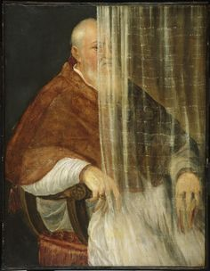 "drakontomalloi:  ""Titian - Portrait of Cardinal Filippo Archinto. 1558  """