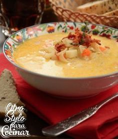 Chowder Recipes, Seafood Recipes, Soup Recipes, Great Recipes, Vegan Recipes, Real Mexican Food, Mexican Food Recipes, Soup Beans, Veggie Soup